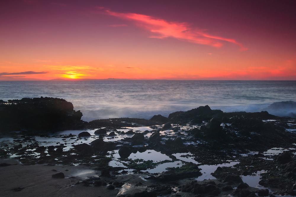 Victoria Beach Tide Pools - Laguna, CA - Sunset