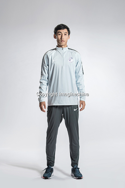 **EXCLUSIVE**Portrait of Chinese soccer player Zhang Hui of Dalian Yifang F.C. for the 2018 Chinese Football Association Super League, in Foshan city, south China's Guangdong province, 11 February 2018.