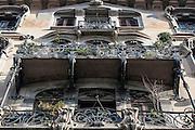 Milano, Lombardia, Italia. Stile liberty. Liberty style. Via Pisacane 12