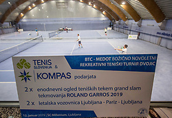 BTC Medot Bozicno novoletni rekreativni teniski turnir dvojic 2019, on January 12, 2019 in BTC Millenium centre, Ljubljana, Slovenia. Photo by Vid Ponikvar / Sportida