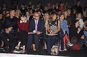 Georgia Coleridge, Nick Coleridge and Hilary Alexander. Arkadius fashion show. 17 September 2001. © Copyright Photograph by Dafydd Jones 66 Stockwell Park Rd. London SW9 0DA Tel 020 7733 0108 www.dafjones.com