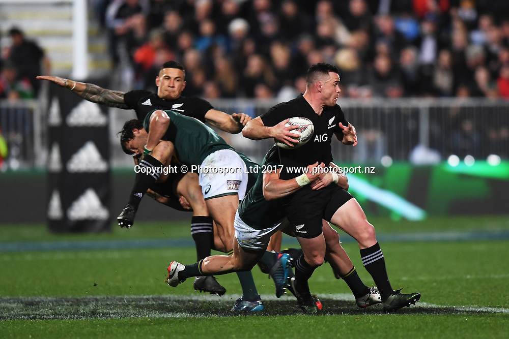Ryan Crotty during the Rugby Championship test match rugby union. New Zealand All Blacks v South Africa Springboks, QBE Stadium, Auckland, New Zealand. Saturday 16 September 2017. © Copyright photo: Andrew Cornaga / www.Photosport.nz