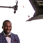 Deebo Samuel has fun while taping a Q&A for ESPN. ©Travis Bell Photography