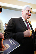 Manchester, New Hampshire, USA, 20110525:   Former Speaker Newt Gingrich vistits a houseparty hosted by lawyer Ovide Lamontagne in Manchester, in his bid for the Presidency in 2012.<br /> Photo: Orjan F. Ellingvag/ Dagens Naringsliv