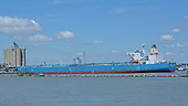 Images of Aframax Tanker 'Advantage Avenue' in the Houston Ship Channel