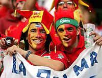 GEPA-180608649 - SALZBURG,AUSTRIA,18.JUN.08 - FUSSBALL - UEFA Europameisterschaft, EURO 2008, Griechenland vs Spanien, GRE vs ESP. Bild zeigt Fans von Spanien.<br />Foto: GEPA pictures/ Hans Simonlehner