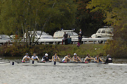 Boston, Massachusetts,   LM8+, Don Rowing club, Canada, heading for the finishing line, at the Forty Second, [42nd] Head of the Charles, 22/10/2006.  Photo  Peter Spurrier/Intersport Images...[Mandatory Credit, Peter Spurier/ Intersport Images] Rowing Course; Charles River. Boston. USA