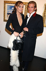 TARA PALMER-TOMPKINSON and JACOBI ANSTRUTHER-GOUGH-CALTHORPE at the opening of an exhibition of paintings and watercolours by Raoul Dufy held at the Opera Gallery, 134 New Bond Street, London W1 on 6th February 2006.<br />