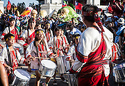 School drumming troupe.