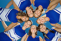Cheerleaders Standing in Circle