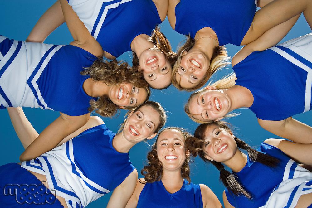 Cheerleaders Standing in Circle