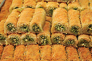 Baklava sweet pastries Photographed in Israel, Jerusalem