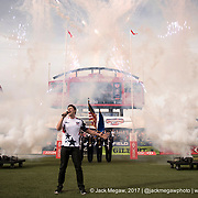 The national anthem is performed before England play the United States the pool stage of the USA Sevens,  Round Five of the World Rugby HSBC Sevens Series in Las Vegas, Nevada, Saturday March 4, 2017. <br /> <br /> Jack Megaw for USA Sevens.<br /> <br /> www.jackmegaw.com<br /> <br /> jack@jackmegaw.com<br /> @jackmegawphoto<br /> [US] +1 610.764.3094<br /> [UK] +44 07481 764811