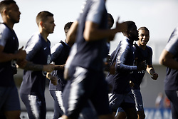 June 18, 2018 - Moscow, Russia - Kylian Mbappe during Team France training session ahead of the FIFA World Cup 2018 on June 18, 2018 in Moscow, Russia. (Credit Image: © Mehdi Taamallah/NurPhoto via ZUMA Press)