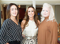 16/10/2016 Lorraine Keane kicks off the first of seven Keane on Style beauty, fashion and wellbeing tour in the Radisson Blu Galway with an audience of&nbsp; glamorous women of all ages. At the Radisson Blu for the event was Aisling Feeney, and Gillian Bradley from Renault Galway with Loraine Keane, fashionista and presenter,  <br />  . Photo :Andrew Downes, XPOSURE