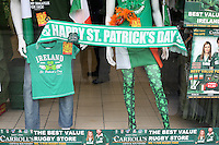 Dublin shop selling St Patricks day fashion in Ireland
