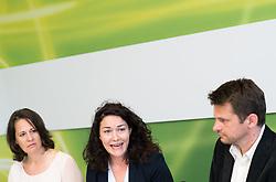 16.06.2017, Grüner Parlamentsklub, Wien, AUT, Grüne, Pressekonferenz zur Offensive für Umwelt und Klima. im Bild v.l.n.r. Nationalratsabgeordnete der Grünen Christiane Brunner, Bundesparteiobfrau der Grünen Ingrid Felipe und designierter Klubobmann der Grünen Albert Steinhauser // f.l.t.r. Member of Parliament of the greens Christiane Brunner, Leader of the Austrian Greens Ingrid Felipe and Leader of the parliamentary group of the greens Albert Steinhauser during media conference of the parliamentary group the greens in Vienna, Austria on 2017/06/16. EXPA Pictures © 2017, PhotoCredit: EXPA/ Michael Gruber