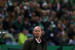 February 3, 2019 - Lisbon, Portugal - Sporting's head coach Marcel Keizer from Netherlands during the Portuguese League football match Sporting CP vs SL Benfica at Alvalade stadium in Lisbon, Portugal on February 3, 2019. (Credit Image: © Pedro Fiuza/NurPhoto via ZUMA Press)