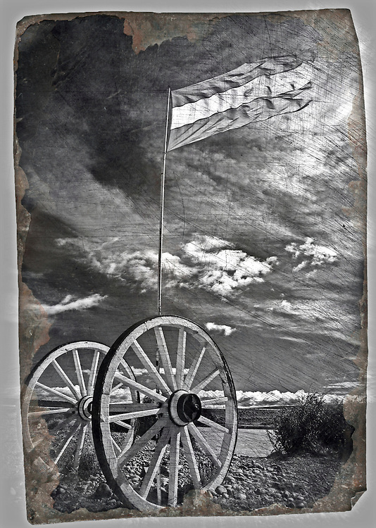 This was taken on a bright sunny day, the wind was brisk and the flag flapping away. When i took the image i had it in my head to create a piece that looked like it could have been 'pulled from a grandparents drawer'. So the image was edited to create my desired vision.