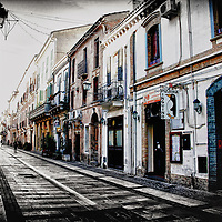 "A view of ""Corso Manthone "" one of the oldest street of Pescara, full of restaurants, stores and museums, Abruzzo, italy"