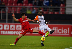 January 13, 2019 - Dijon, France - Ambroise Oyongo ( Montpellier ) - Chang Hoon Kwon  (Credit Image: © Panoramic via ZUMA Press)