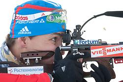 09.12.2011, Biathlonzentrum, Hochfilzen, AUT, E.ON IBU Weltcup, 2. Biathlon, Einschiessen Herren 10km Sprint, im Bild Andrei Makoveev (RUS) // Andrei Makoveev of Russia before men 10km Sprint at E.ON IBU Worldcup 2th Biathlon, Hochfilzen, Austria on 2011/12/09. EXPA Pictures © 2011, PhotoCredit: EXPA/ Johann Groder