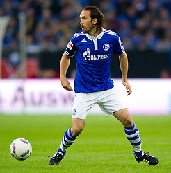 23.07.2011, Veltins arena, Gelsenkirchen, GER, Supercup, FC Schalke 04 vs. Borussia Dortmund, im Bild Christian Fuchs (#23 Schalke) // during the match FC Schalke 04 vs. Borussia Dortmund at Veltins arena 2011/07/23    EXPA Pictures © 2011, PhotoCredit: EXPA/ nph/  Kurth       ****** out of GER / CRO  / BEL ******
