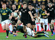 All Blacks Beauden Barrett during the Rugby Championship match between the New Zealand All Blacks & South Africa at Westpac Stadium, Wellington on Saturday 27th July 2019. Copyright Photo: Grant Down / www.Photosport.nz