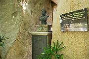 Macau, China - September 13, 2013: Bust of the 16th century Portuguese poet Luiz Camoes in Macau, China.