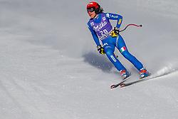 20.01.2018, Olympia delle Tofane, Cortina d Ampezzo, ITA, FIS Weltcup Ski Alpin, Abfahrt, Damen, im Bild Federica Brignone (ITA) // Federica Brignone of Italy reacts after ladie' s downhill of the Cortina FIS Ski Alpine World Cup at the Olympia delle Tofane course in Cortina d Ampezzo, Italy on 2018/01/20. EXPA Pictures © 2018, PhotoCredit: EXPA/ Dominik Angerer