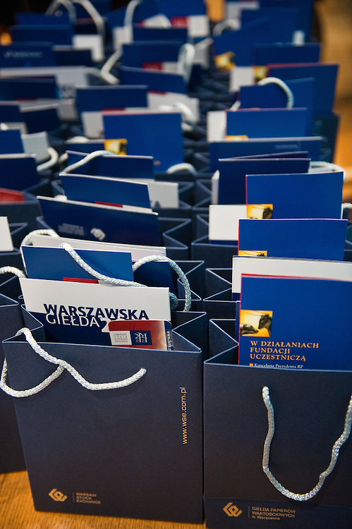 Children's visit to the Warsaw stock exchange and the Polish ministry of finance, organised by Polish NGO Akademia Przyszlosci