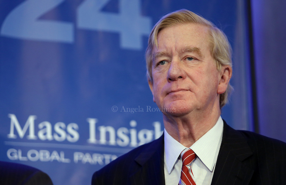 (Boston, MA - 3/11/15) Former Gov. William Weld attends the Global Massachusetts 2024 luncheon at the Hyatt Regency Hotel, Wednesday, March 11, 2015. Staff photo by Angela Rowlings.