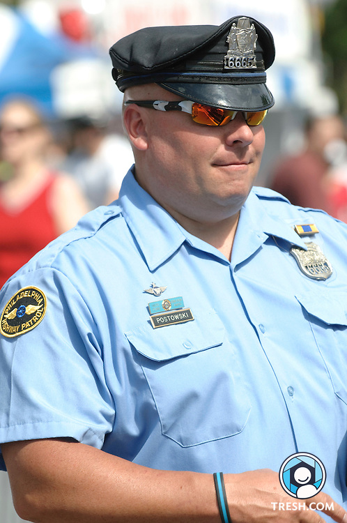 A Philadelphia Highway Patrol officer in uniform...July 4, 2009.Philadelphia, PA