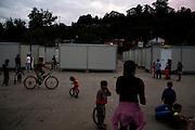 Scene in the Rakovica resettlement camp for Roma displaced from Gazela.