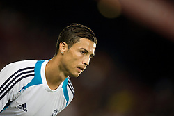 Cristiano Ronaldo of Real Madrid warms up. Barcelona v Real Madrid, Supercopa first leg, Camp Nou, Barcelona, 23rd August 2012...Credit : Eoin Mundow/Cleva Media
