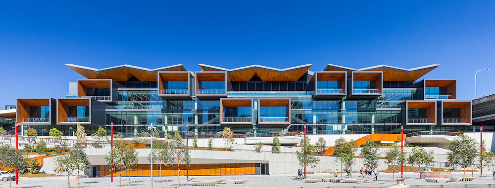part of the international confrence centre at darling harbour.  designed by hassell + populous, built by lend lease