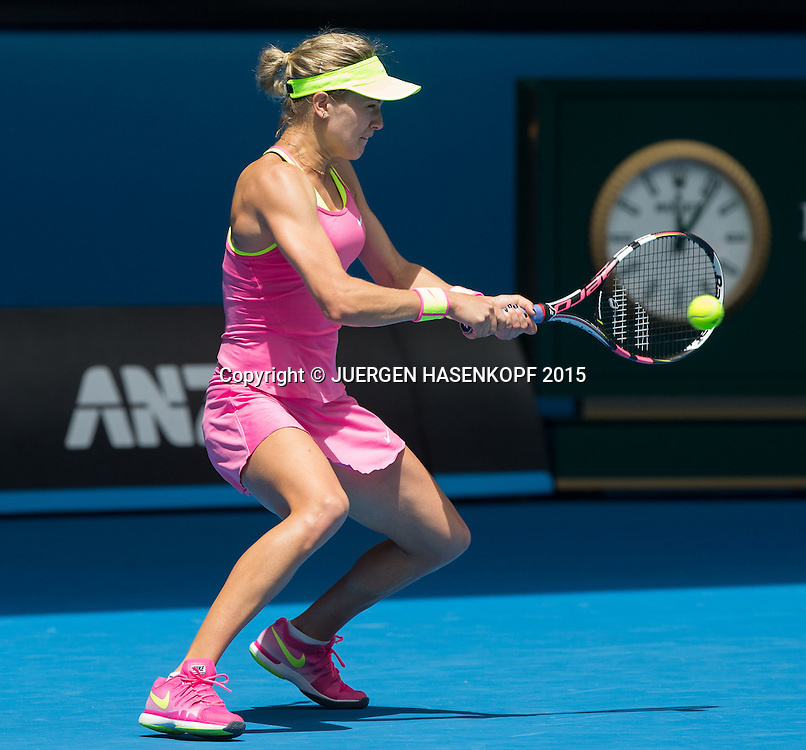 Eugenie Bouchard (CAN)<br /> <br /> Tennis - Australian Open 2015 - Grand Slam ATP / WTA -  Melbourne Olympic Park - Melbourne - Victoria - Australia  - 25 January 2015.