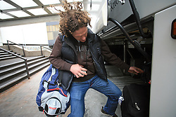 Gaber Glavic at Slovenian National team packing and going from Citadel Hotel to the Halifax airport, when they finished with games at IIHF WC 2008 in Halifax, on May 11, 2008, Canada. (Photo by Vid Ponikvar / Sportal Images)