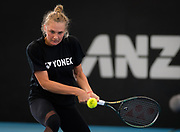 Dayana Yastremska of the Ukraine before her quarter-final match at the 2020 Adelaide International WTA Premier tennis tournament. Photo Rob Prange / Spain ProSportsImages / DPPI / ProSportsImages / DPPI