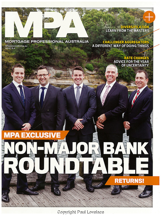 Group portraits of various CEO's for Mortgage Professional Magazine,, Sydney.