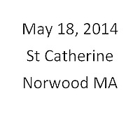 St Catherine Norwood MA First Communion May 18, 2014