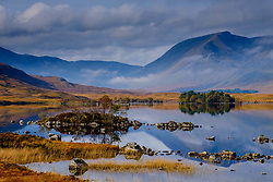 On the edge of Rannoch Moor &quot;Lochan nah-Achaise&quot; in the foreground with the peaks of Stob Ghabhar and Clach Leathad<br /> <br /> (c) Andrew Wilson | Edinburgh Elite media