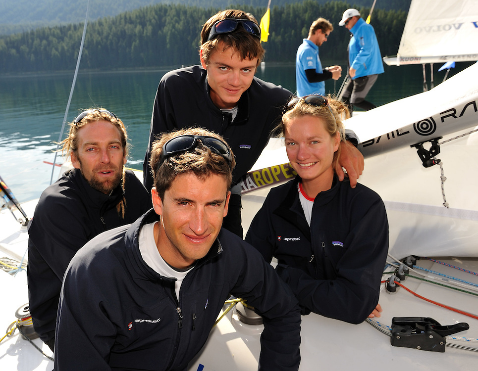 Team CER, Skipper Jerome Clerc, Denis Girardet, Bryan Mettraux, Elodie Mettraux. Photo: Chris Davies/WMRT
