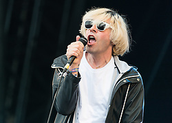 © Licensed to London News Pictures. 26/06/2015. Pilton, UK.  The Charlatans performing on the The Other Stage stage at Glastonbury Festival 2015 on Friday Day 3 of the festival.  This years headline acts include Kanye West, The Who and Florence and the Machine, the latter being upgraded in the bill to replace original headline act Foo Fighters.   Photo credit: Richard Isaac/LNP