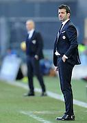 Udine, 15 febbraio 2015<br /> Serie A 2014/15. 23^ giornata.<br /> Stadio Friuli.<br /> Udinese vs Lazio<br /> Nella foto: l'allenatore dell'Udinese Andrea Stramaccioni.<br /> © foto di Simone Ferraro