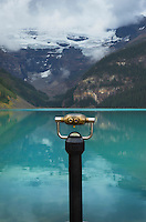 Coin Operated binoculars, Lake Louise, Banff National Park