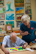Longfield Care art workshop.<br /> <br /> Photo credit: Mile 91/Ben Langdon