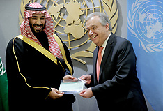 Saudi Arabia Crown Prince At The UN - 27 March 2018
