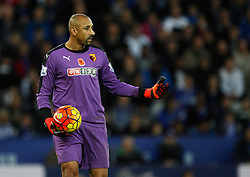 Heurelho Gomes of Watford in action  - Mandatory byline: Jack Phillips/JMP - 07966386802 - 7/11/2015 - SPORT - FOOTBALL - Leicester - King Power Stadium - Leicester City v Watford - Barclays Premier League