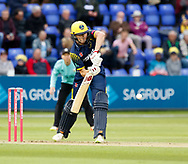 Glamorgan's Aneurin Donald in action today <br /> <br /> Photographer Simon King/Replay Images<br /> <br /> Vitality Blast T20 - Round 14 - Glamorgan v Surrey - Friday 17th August 2018 - Sophia Gardens - Cardiff<br /> <br /> World Copyright &copy; Replay Images . All rights reserved. info@replayimages.co.uk - http://replayimages.co.uk